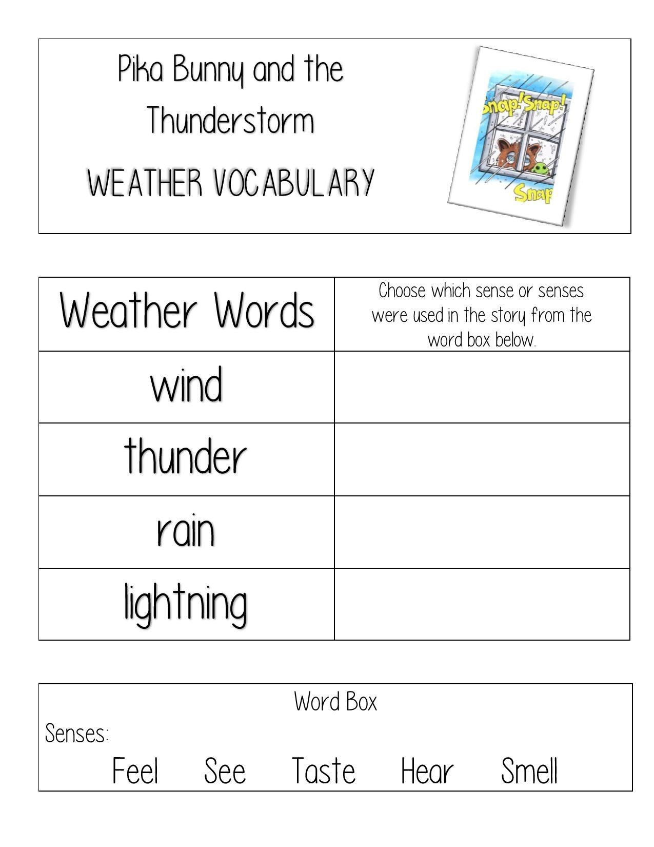 Weather Worksheets for 2nd Graders Free Weather Worksheet for Teachers and Homeschool for