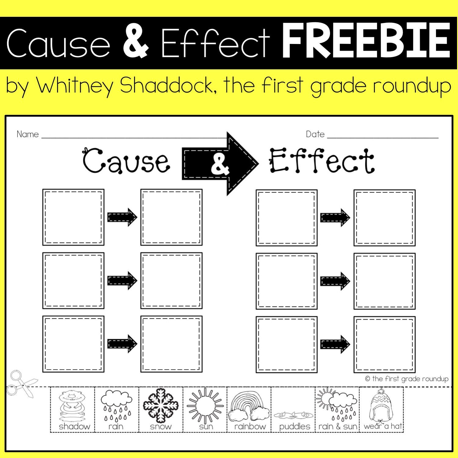 Weather Worksheets for First Graders Cause and Effect Worksheets for Kids