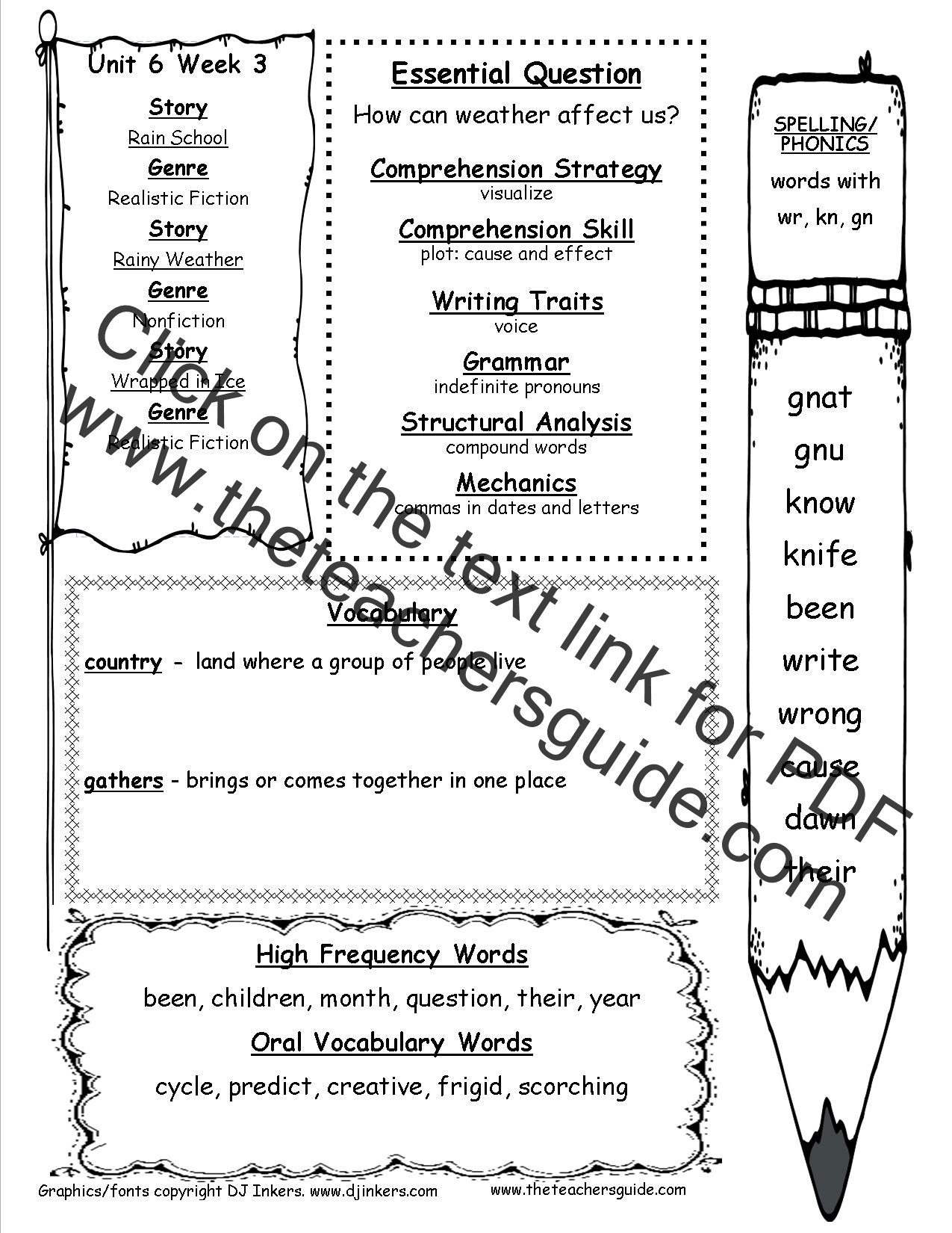 Weather Worksheets for First Graders Mcgraw Hill Wonders First Grade Resources and Printouts