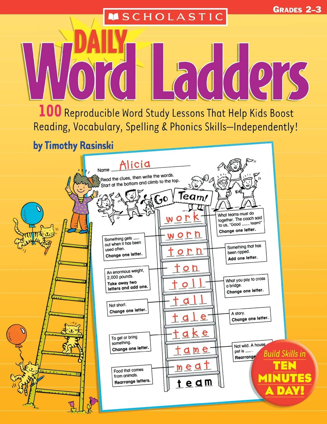 Word Ladders Middle School Daily Word Ladders Grades 2 3 Amazon Rasinski Timothy
