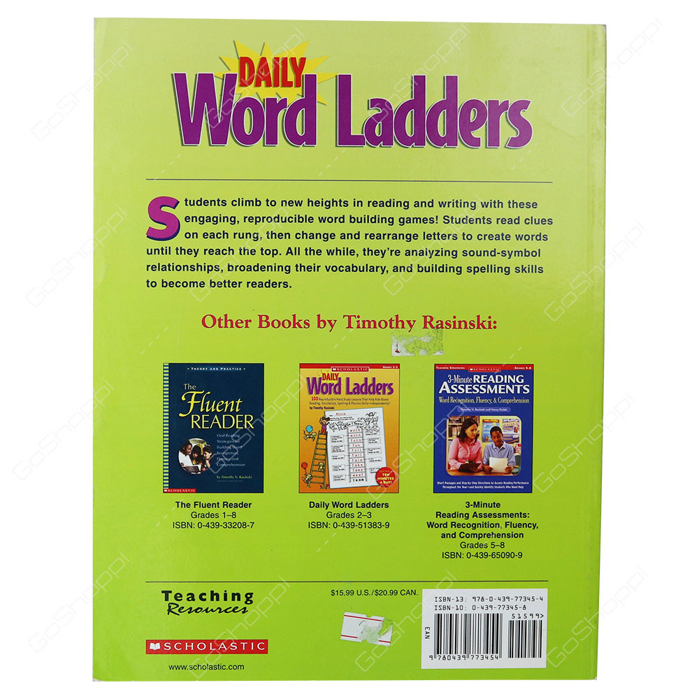 Word Ladders Middle School Daily Word Ladders Grades 4 6 Buy Line
