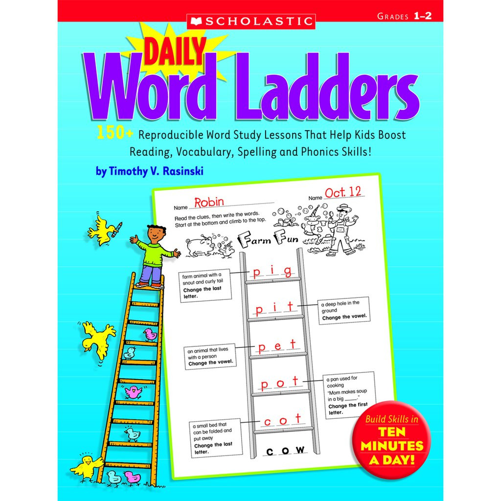 Word Ladders Middle School Scholastic Daily Word Ladders Grades 1–2
