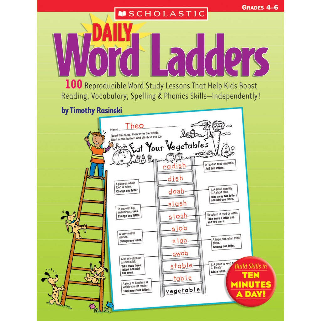 Word Ladders Middle School Scholastic Daily Word Ladders Grades 4–6