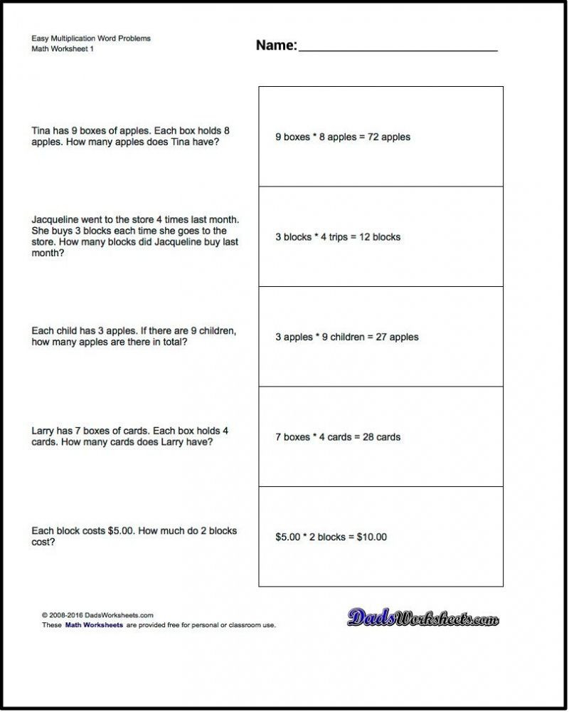 Word Problem Worksheets 1st Grade Free Math Worksheets for 1st Grade Word Problems