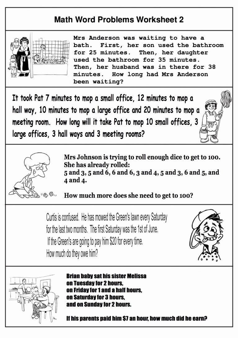 Word Problem Worksheets 1st Grade Kindergarten Word Problems Worksheets In 2020
