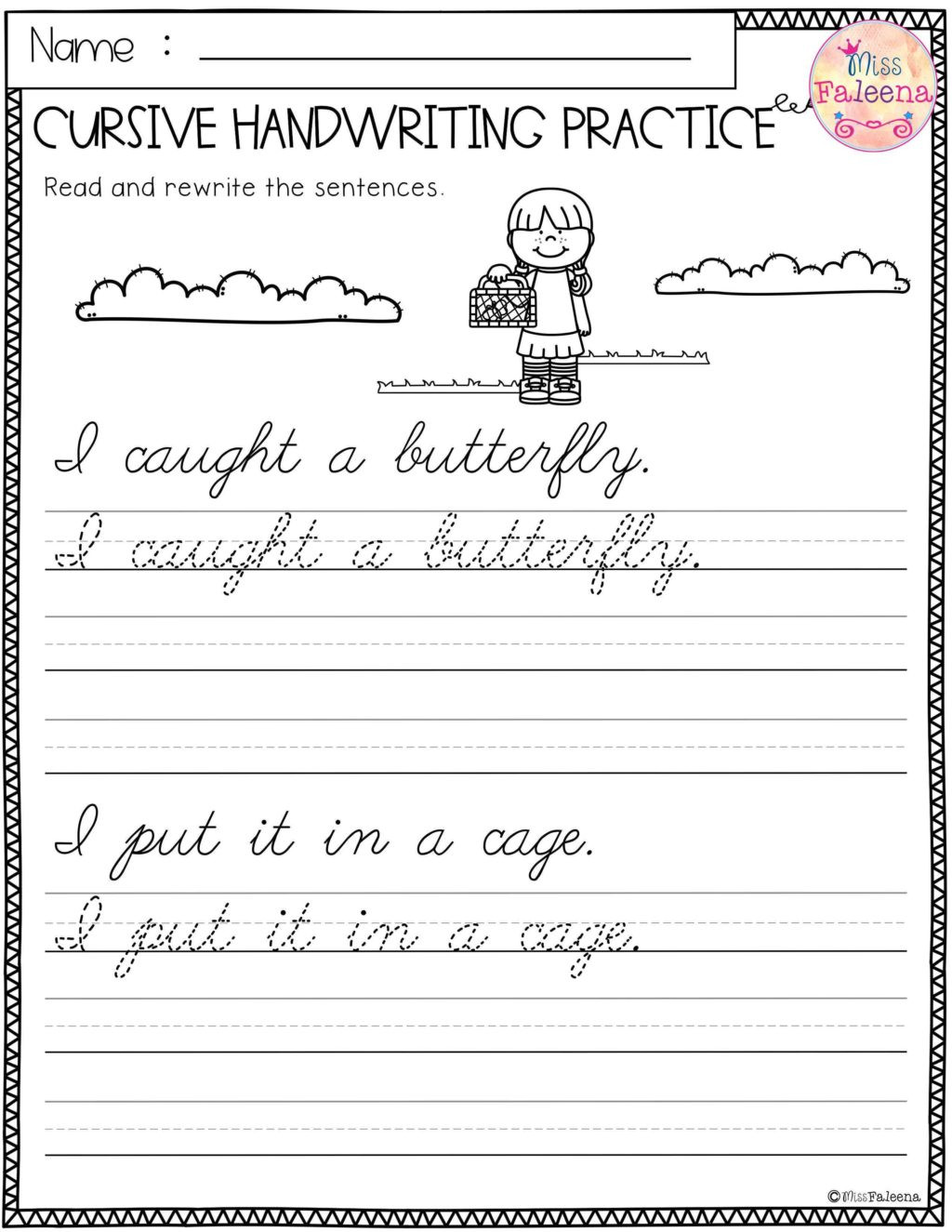 Writing Sentences Worksheets 3rd Grade Worksheet Practice Cursiveiting Sentences Worksheets Pdf