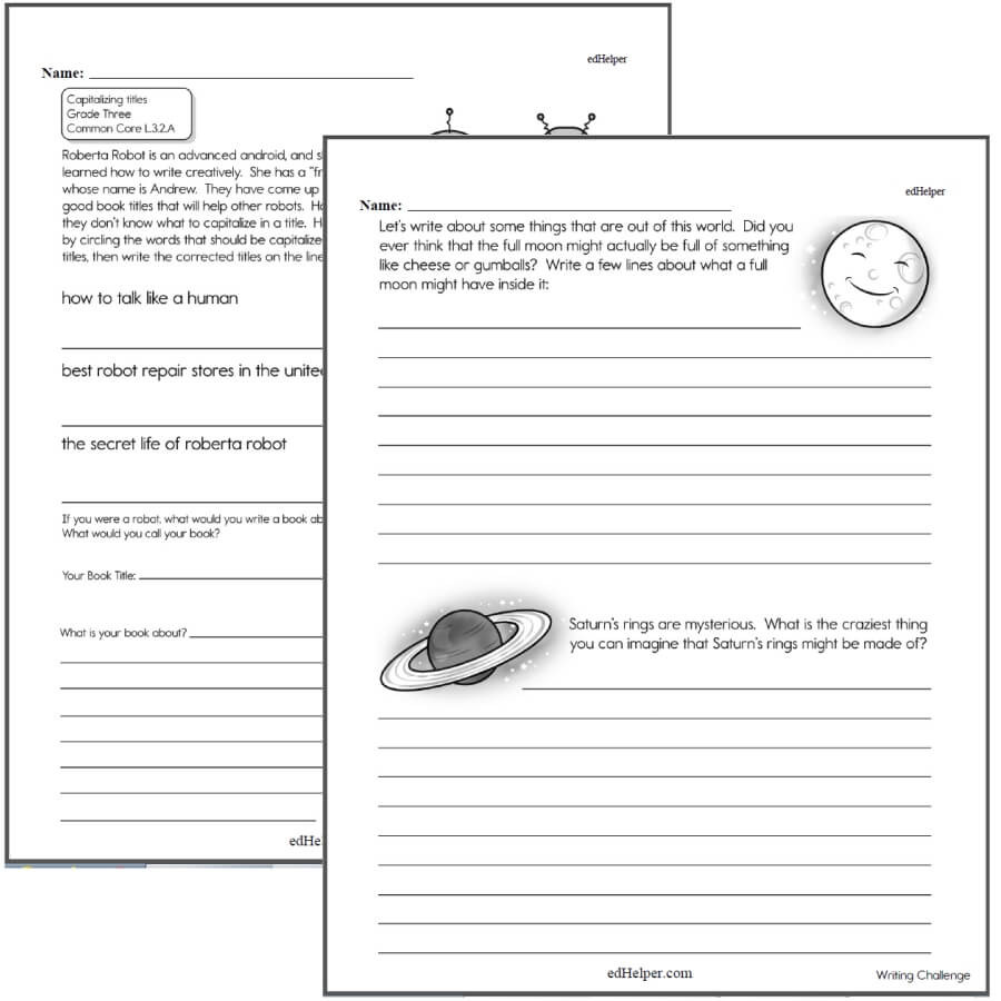 Writing Worksheet 2nd Grade Writing Worksheets for Creative Kids