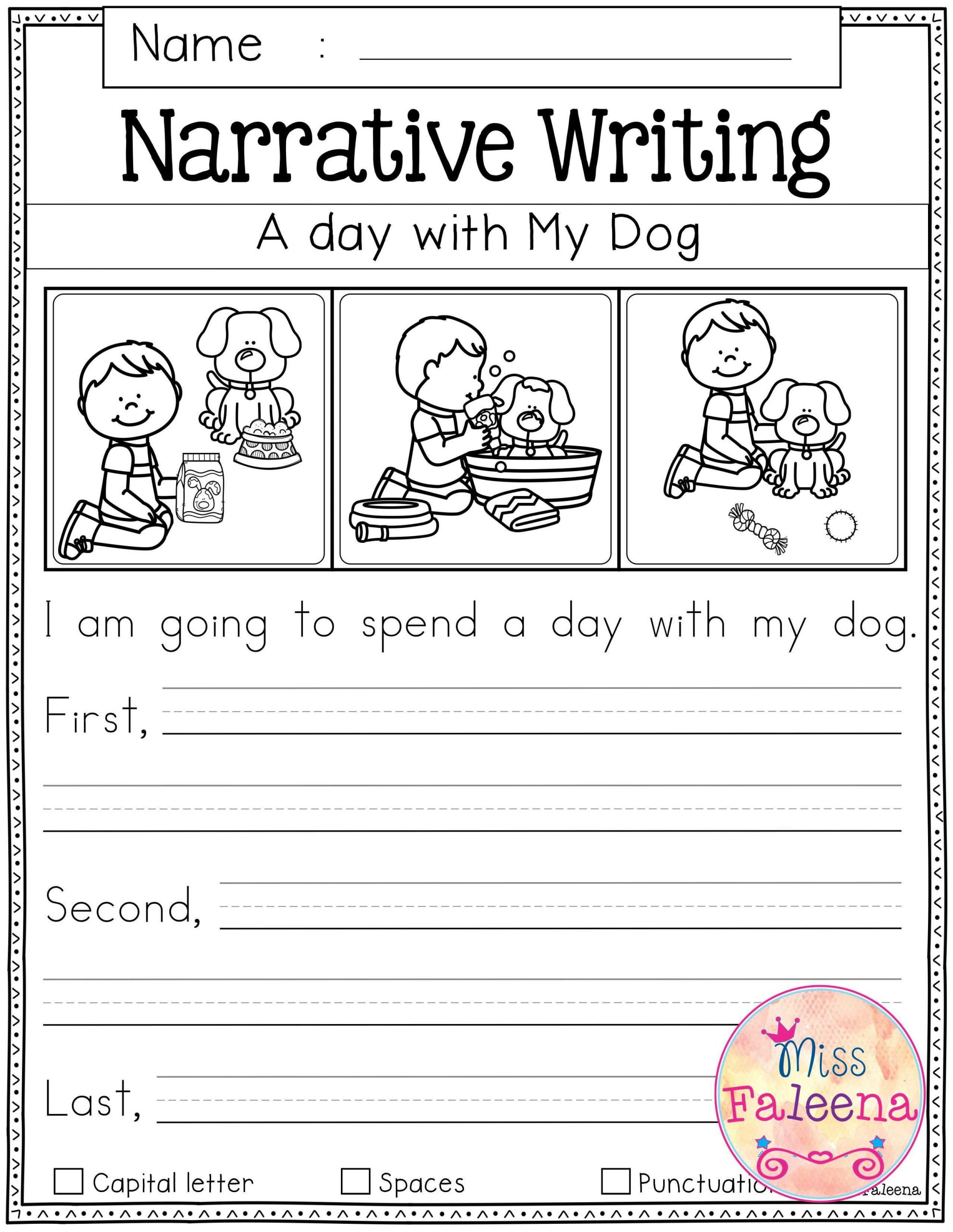 Writing Worksheets First Grade Free Writing Prompts