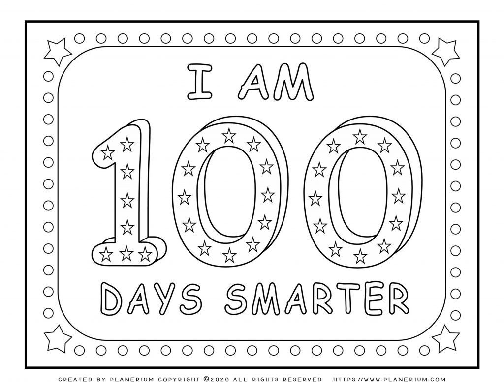 100 Days Of School Worksheet 100 Days Of School Coloring Pages and Worksheets