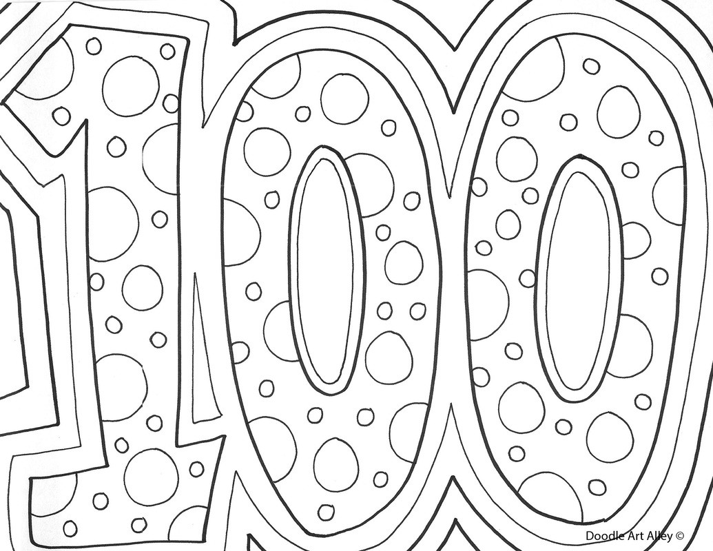100 Days Of School Worksheet 100th Day Of School Celebration Classroom Doodles