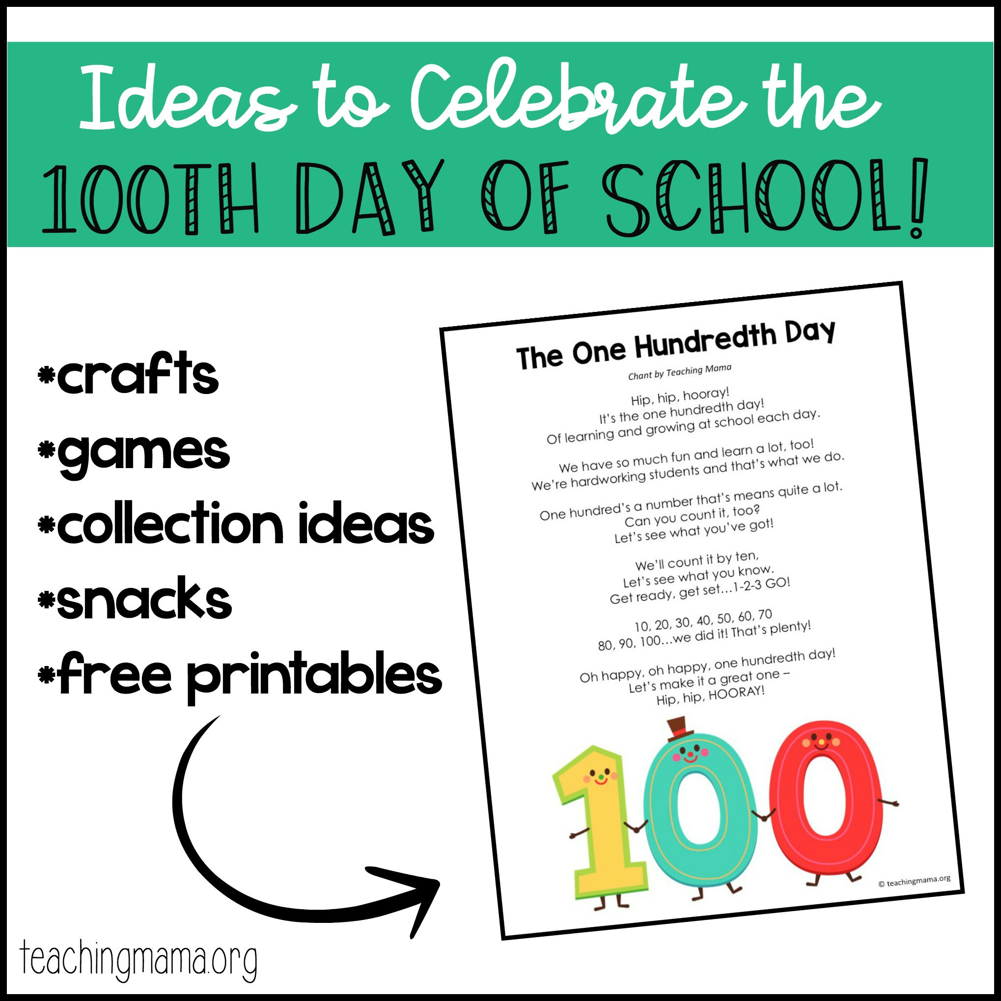 100 Days Of School Worksheet 100th Day Of School Ideas