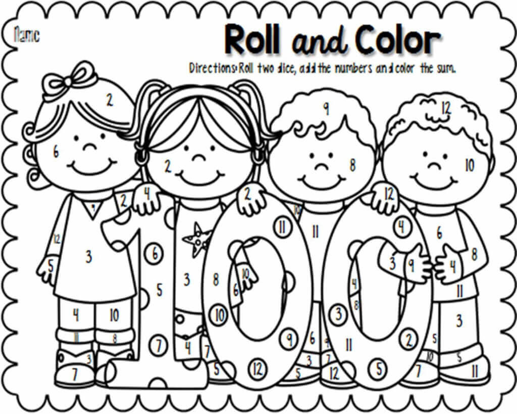 100 Days Of School Worksheet Coloring Days School Pages Image Ideas for 4thrs