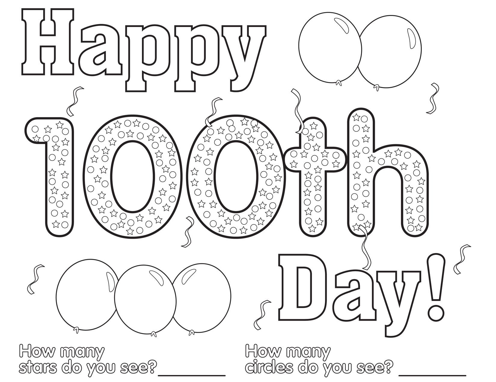 100 Days Of School Worksheet Days School Coloring Pages Amazing Free 100th Day Sheets
