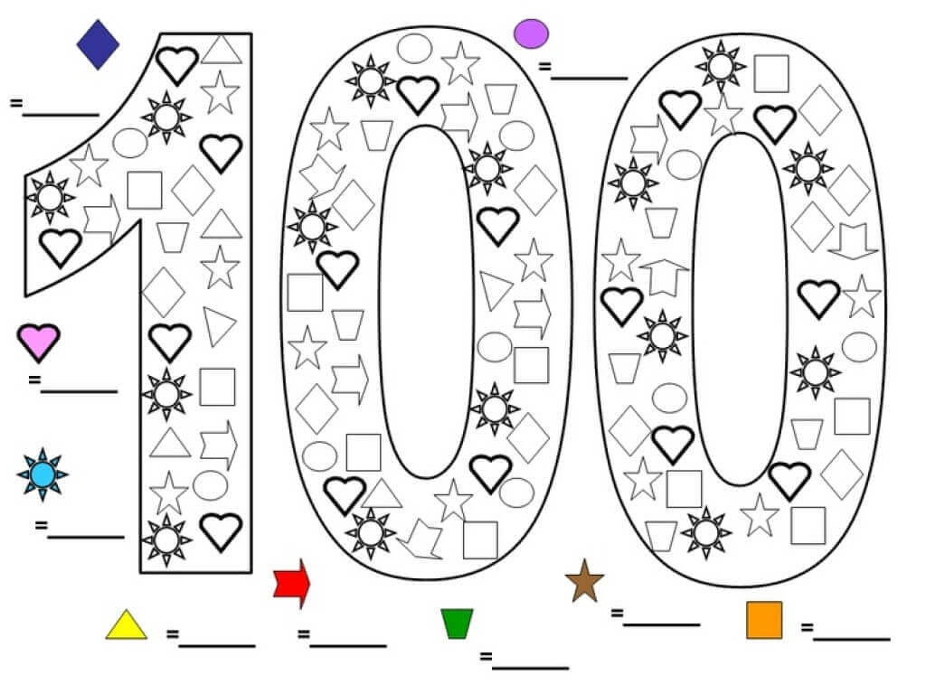 100 Days Of School Worksheet Days School Poems for Kids Free Printable Coloring Pages