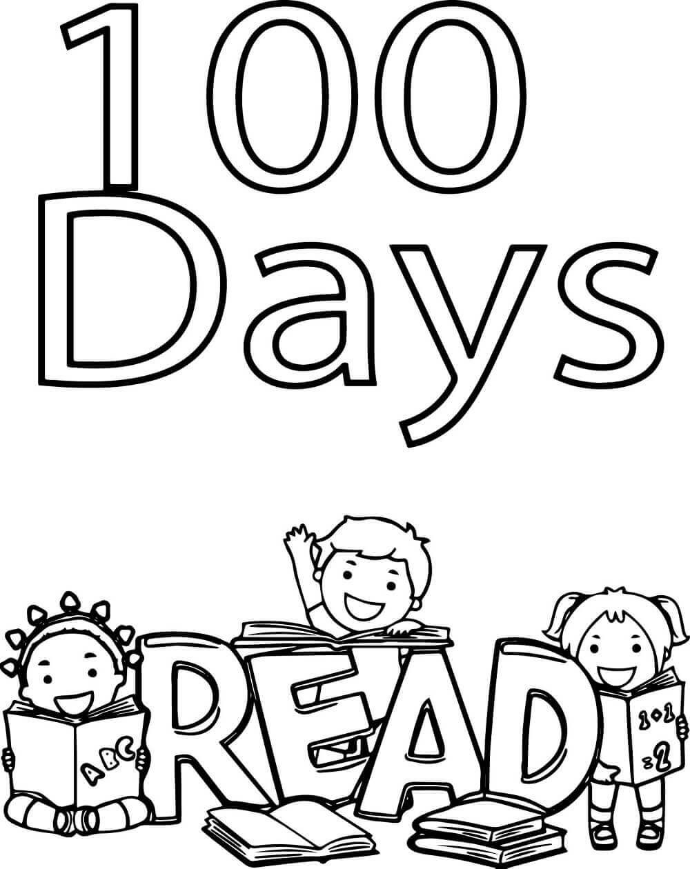 100 Days Of School Worksheet Free Printable 100 Days School Coloring Pages