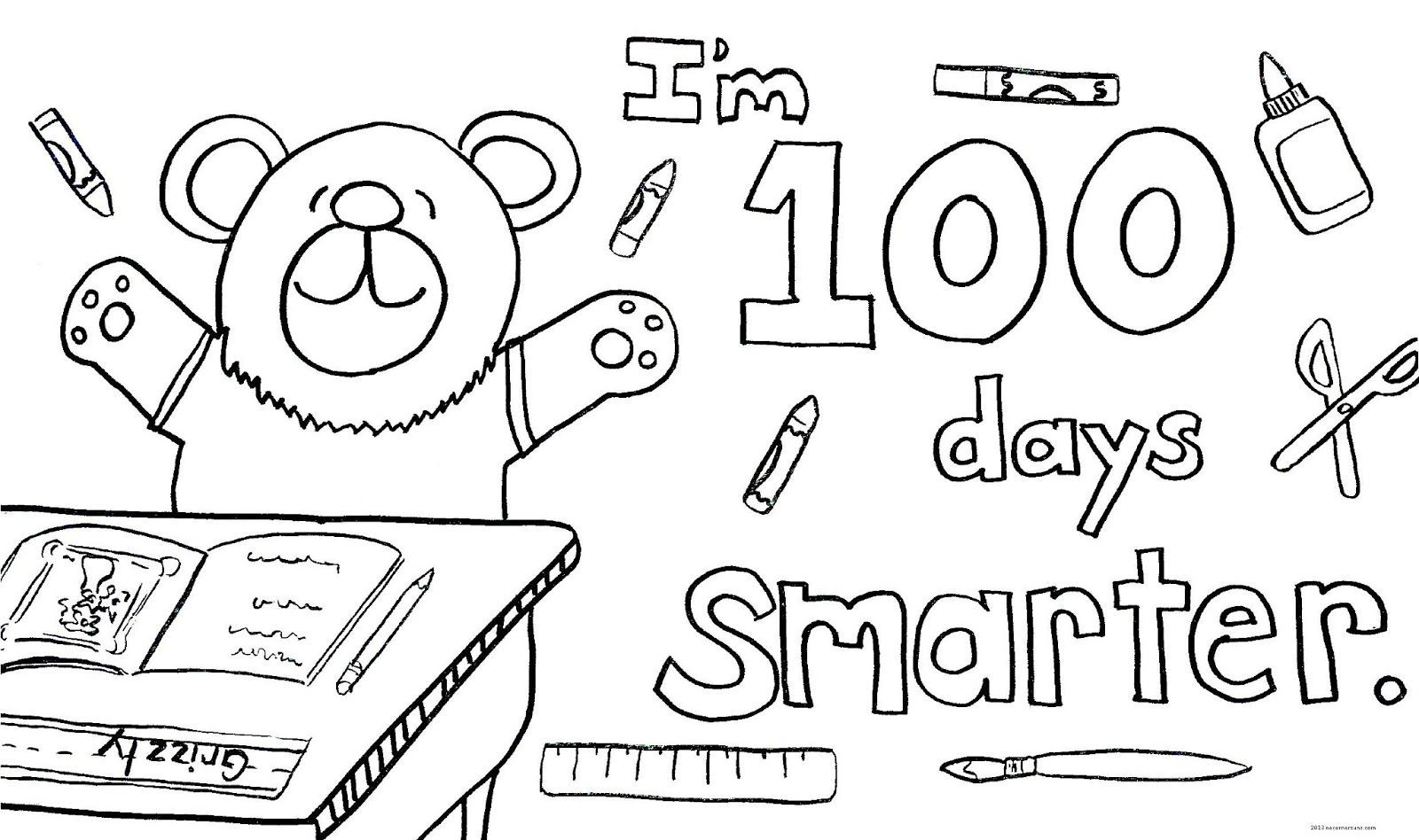 100 Days Of School Worksheet Its the 100th Day School Coloring Pages Days Amazings