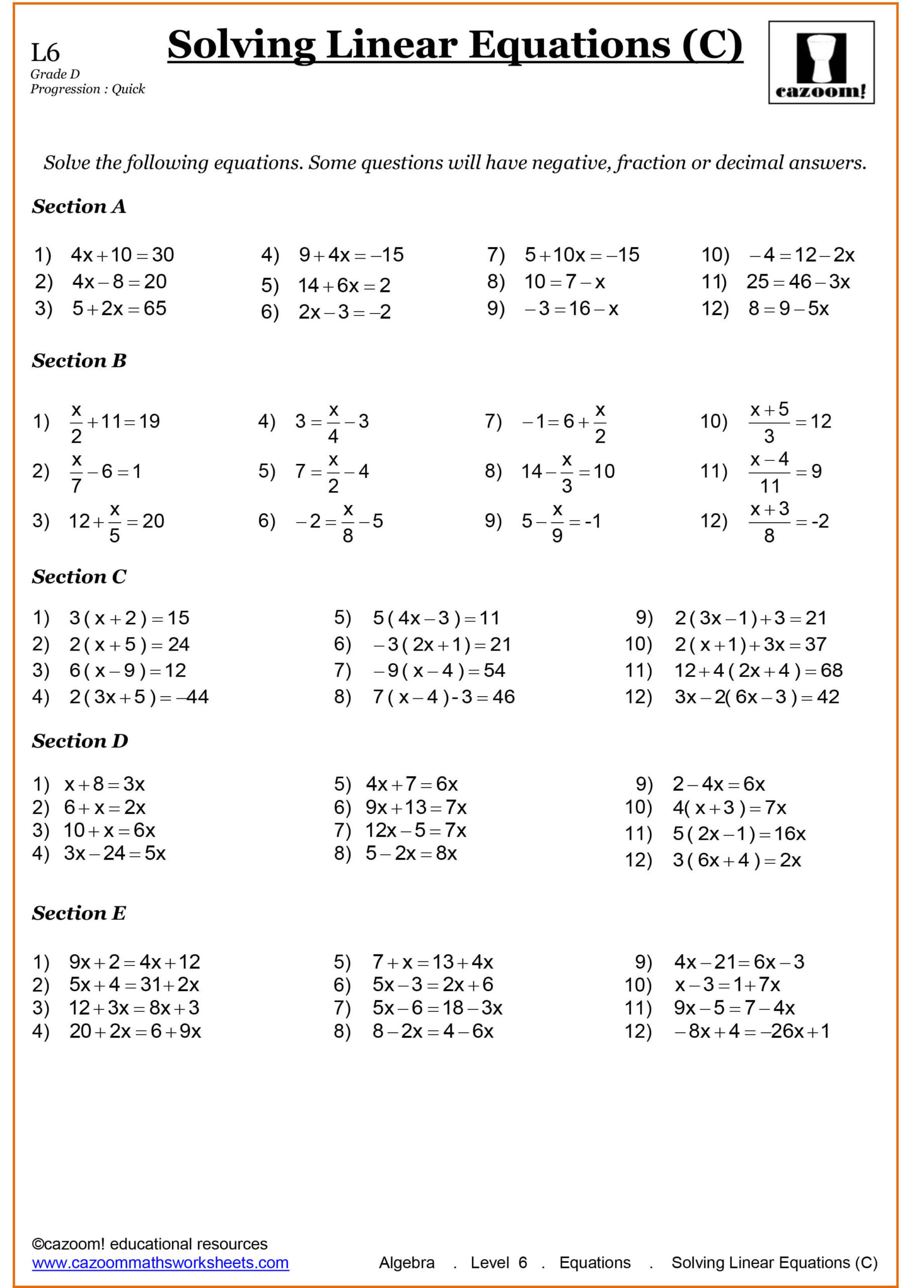 10th Grade Math Worksheets 1989 Generationinitiative Page 5 Free Printable Math