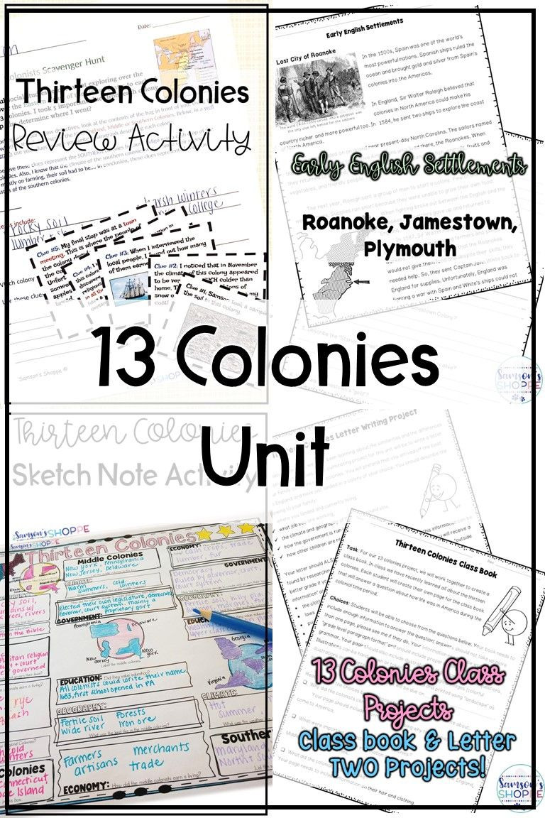 13 Colonies Reading Comprehension Worksheet 13 Colonies Unit Of Activities