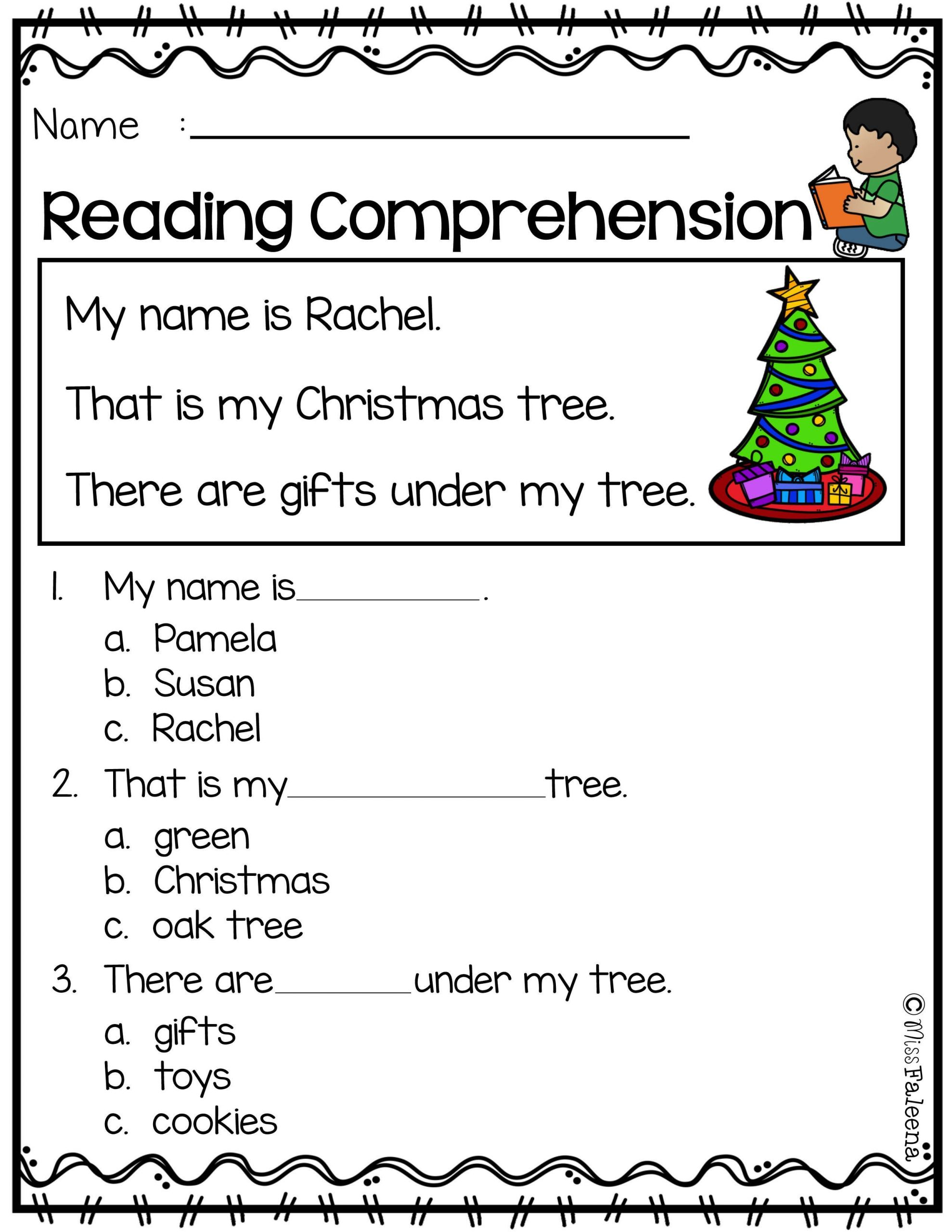 1st Grade Comprehension Worksheets 1st Grade Reading Prehension Worksheets Multiple Choice