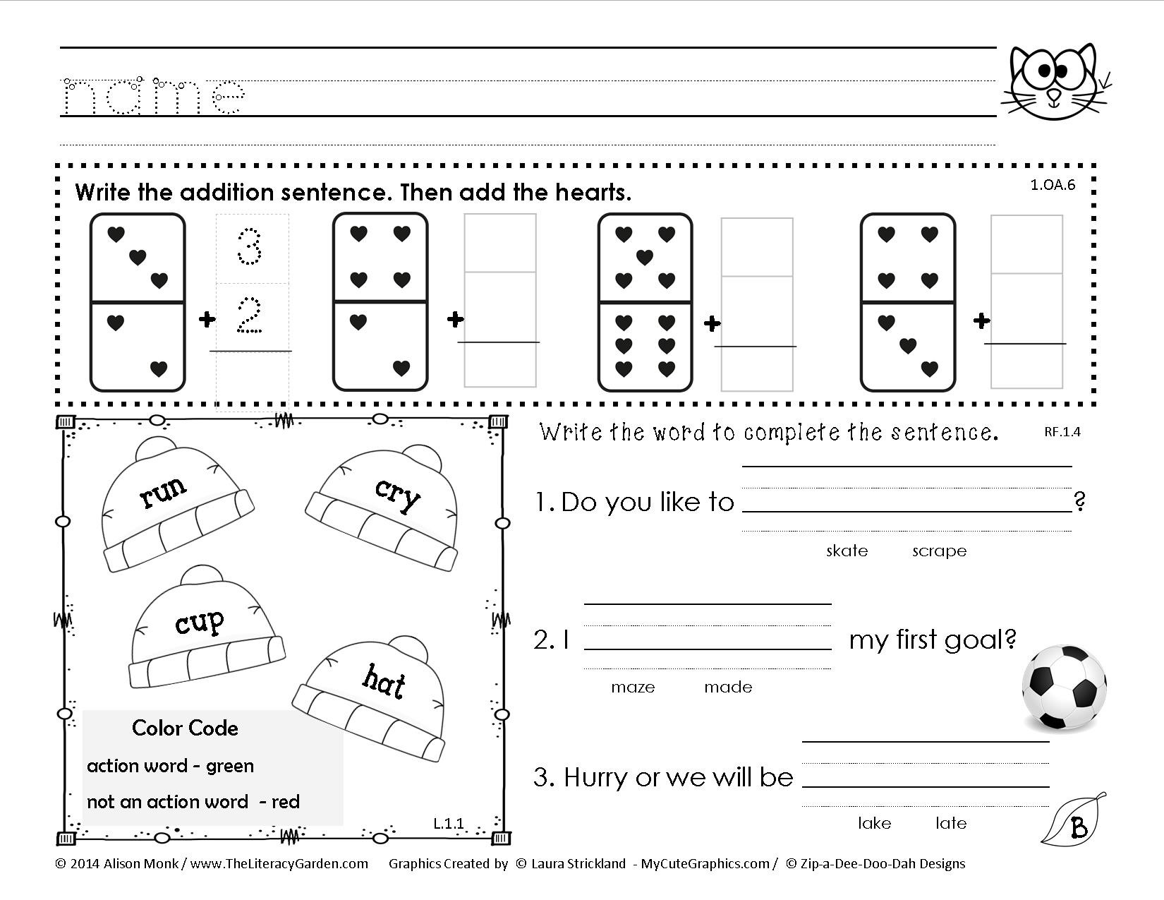 1st Grade Morning Work Worksheets February Morning Work – Try for Free