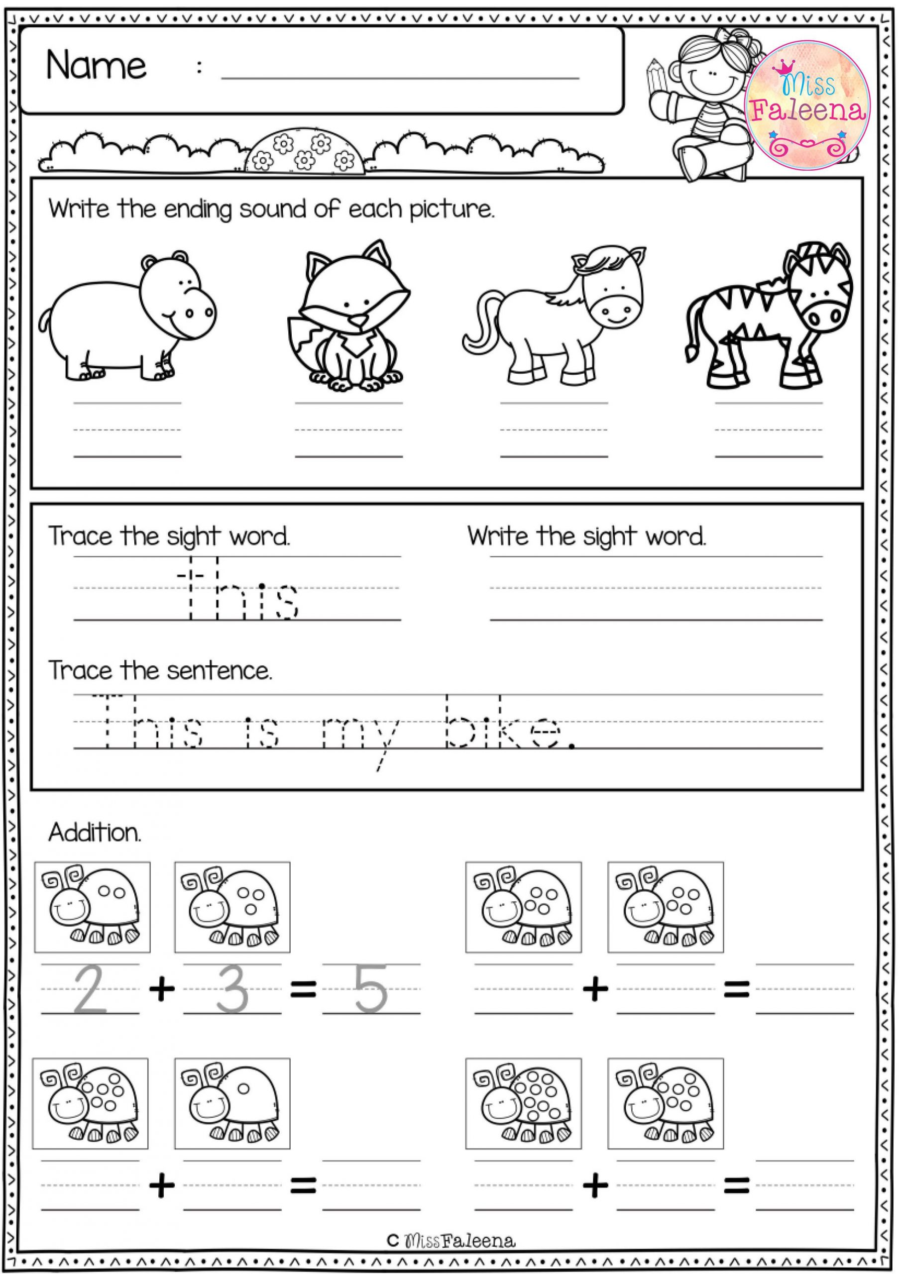 1st Grade Morning Work Worksheets Free First Grade Morning Work