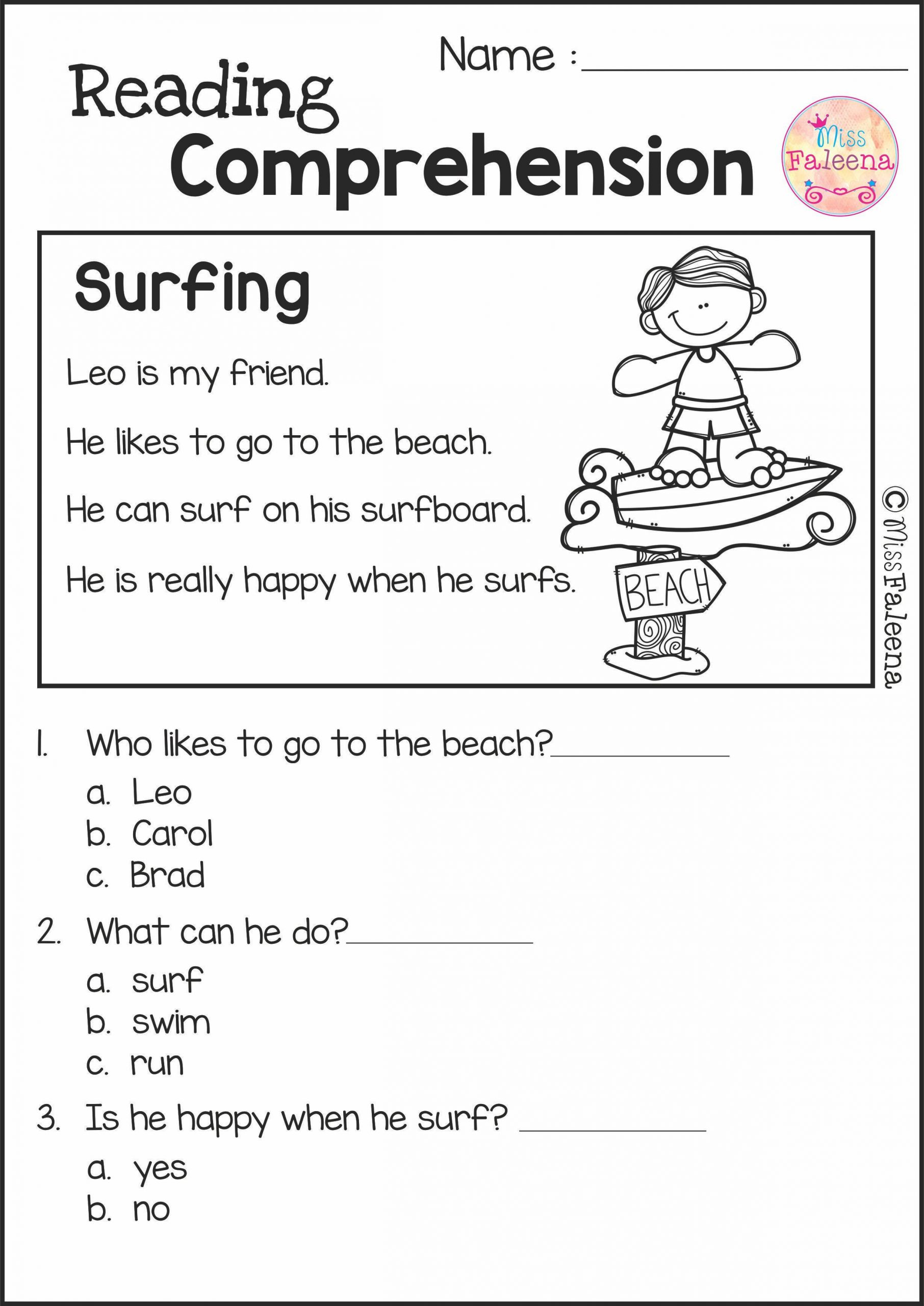 1st Grade Reading Worksheets Pdf Reading Prehension Set 2