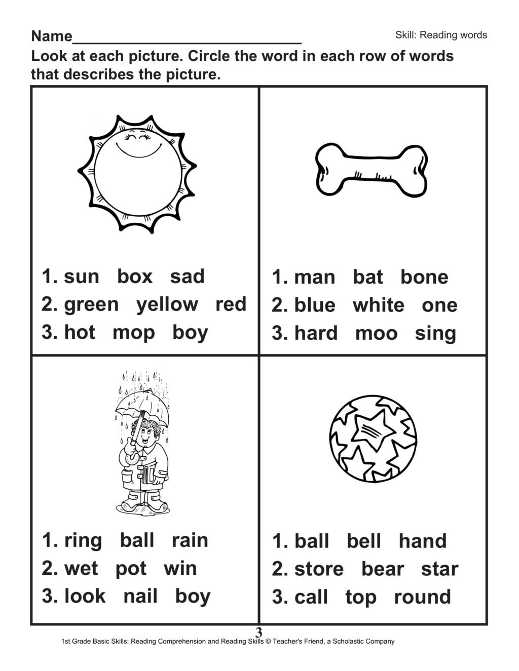 1st Grade Reading Worksheets Pdf Worksheet Slide4 Free 1st Grade Reading Line Worksheets