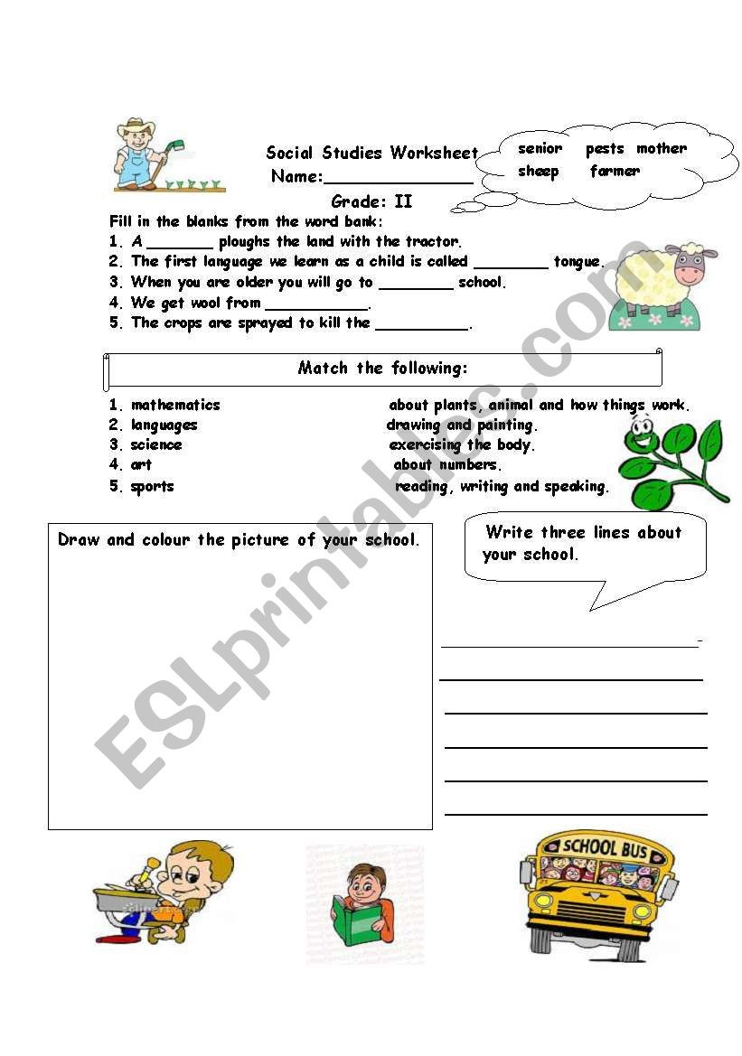 1st Grade social Studies Worksheets social Stu S assessment Worksheet Esl Worksheet by Alina2
