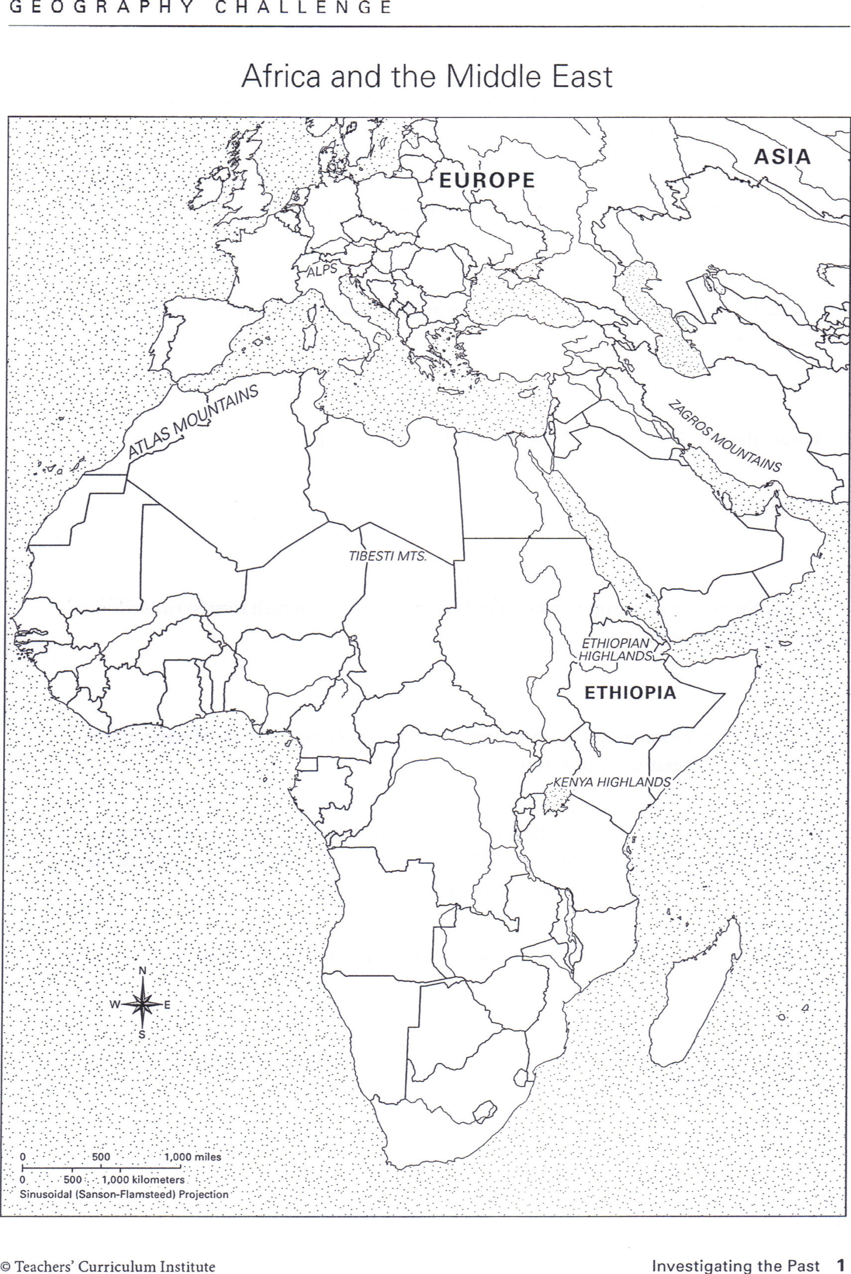 2nd Grade Map Skills Worksheets Bayes Map Worksheets for 2nd Grade Africa and the Middle