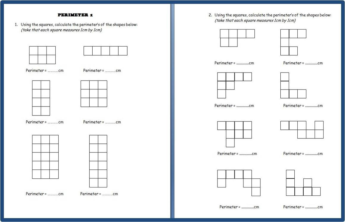 2nd Grade Perimeter Worksheets Free Perimeter Printables Five Sets Of Perimeter Worksheets