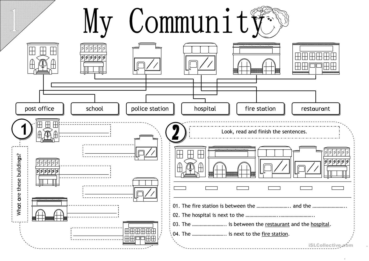 2nd Grade social Studies Worksheet My Munity Esl Worksheets