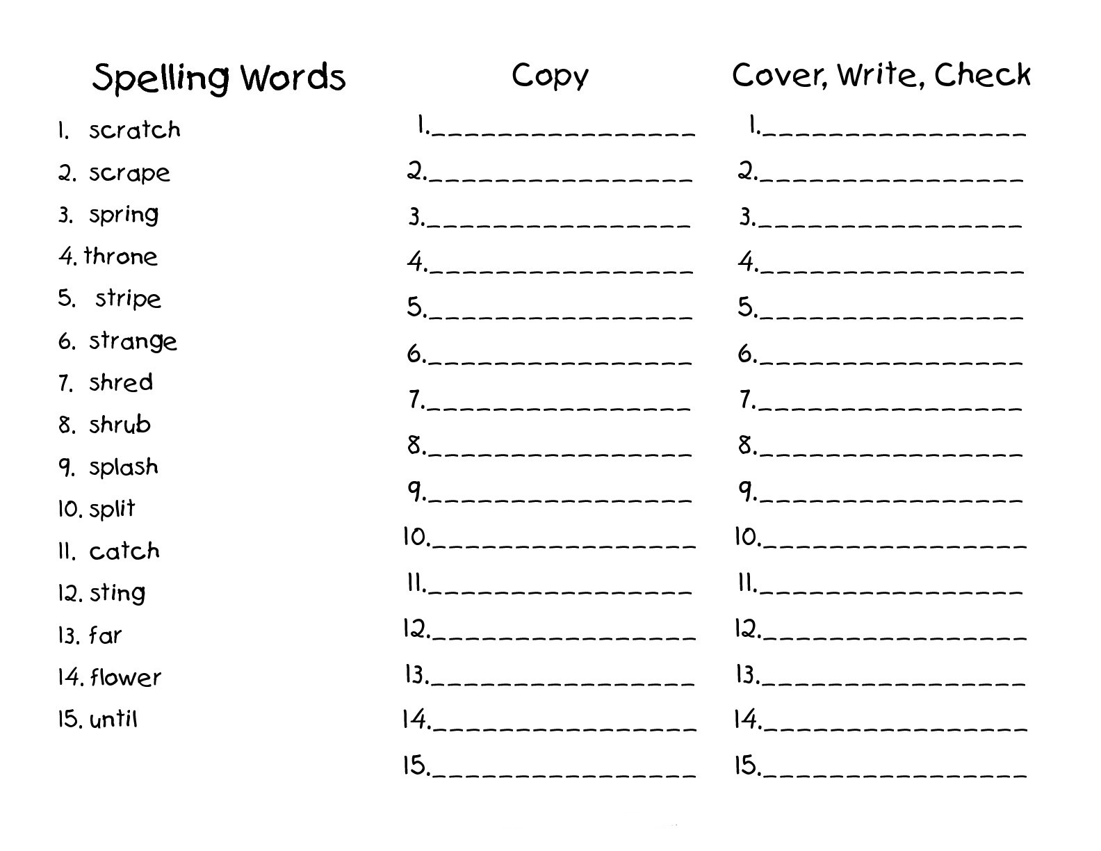 2nd Grade Spelling Worksheets Best Coloring Pages For Kids
