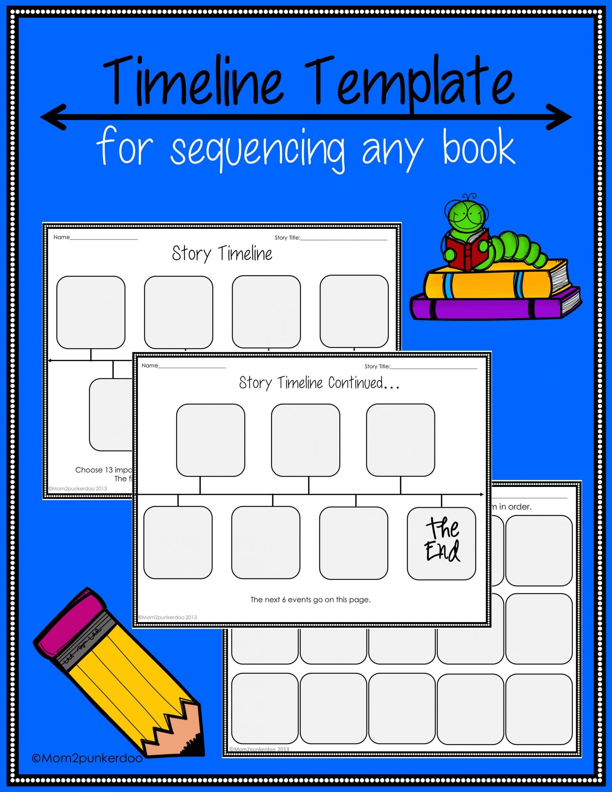2nd Grade Timeline Worksheets Sequencing Timeline Template for Any Book