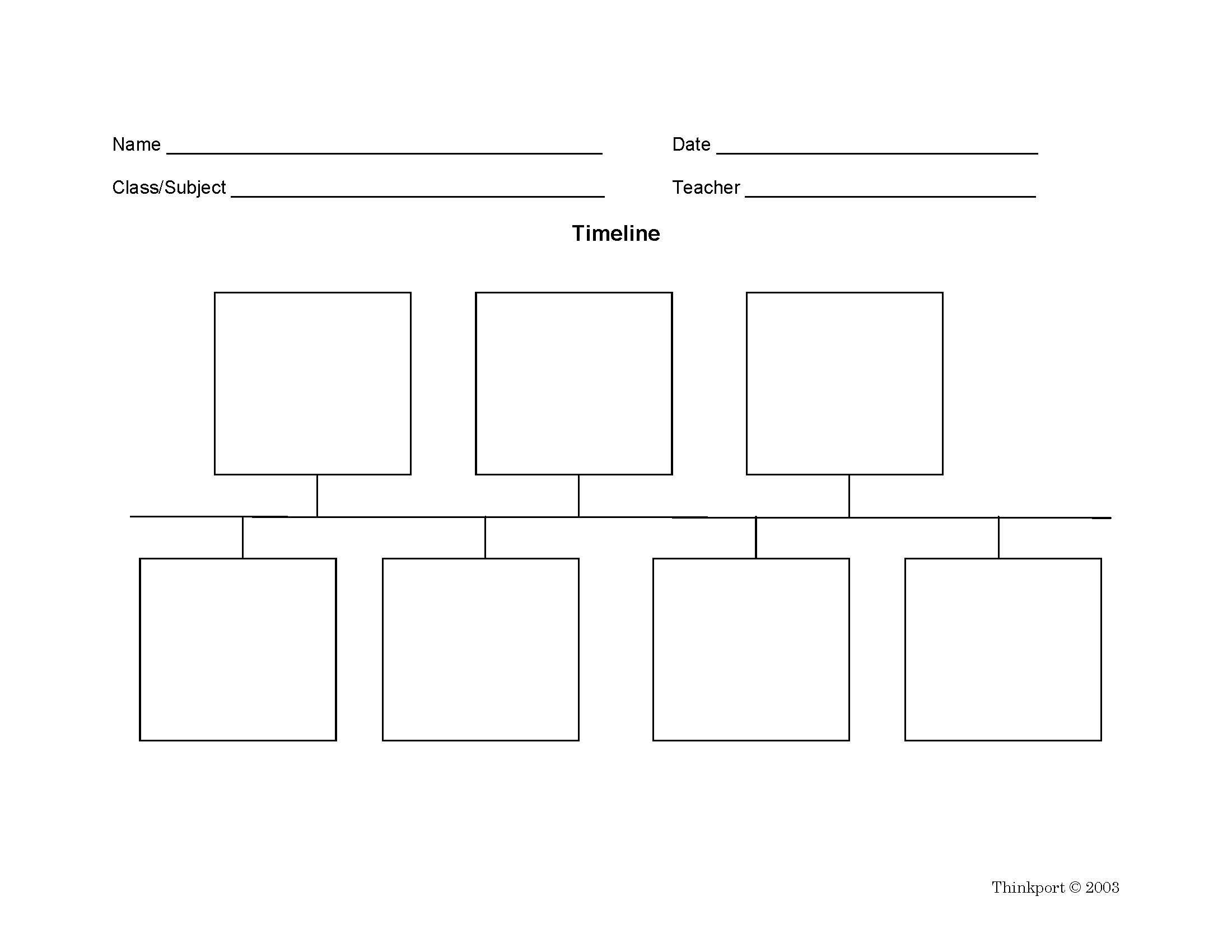 2nd Grade Timeline Worksheets Timeline Graphic organizers Display events In Sequential
