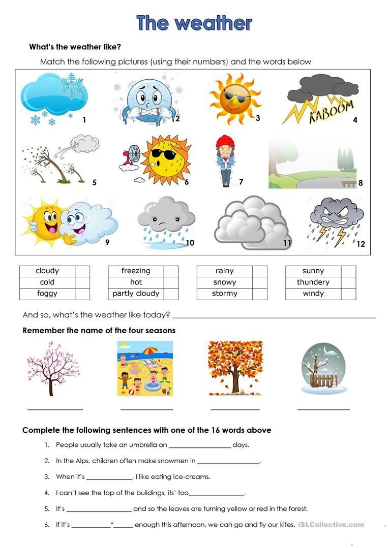 2nd Grade Weather Worksheets Weather