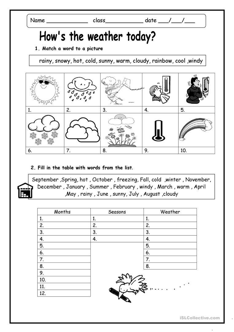 2nd Grade Weather Worksheets Weather Worksheets Skylikes Yahoo Image Search Results