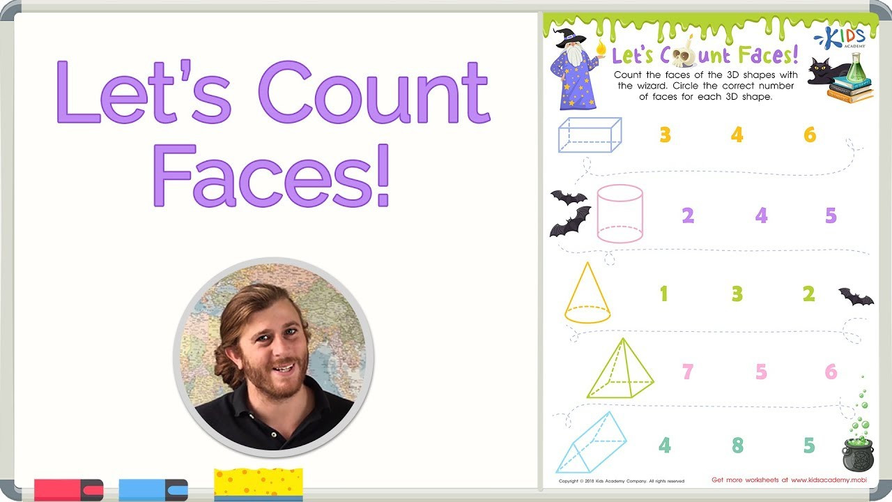 3d Shapes Worksheets 2nd Grade Faces Of 3d Shapes 3d Shapes for Children Math for 2nd Grade