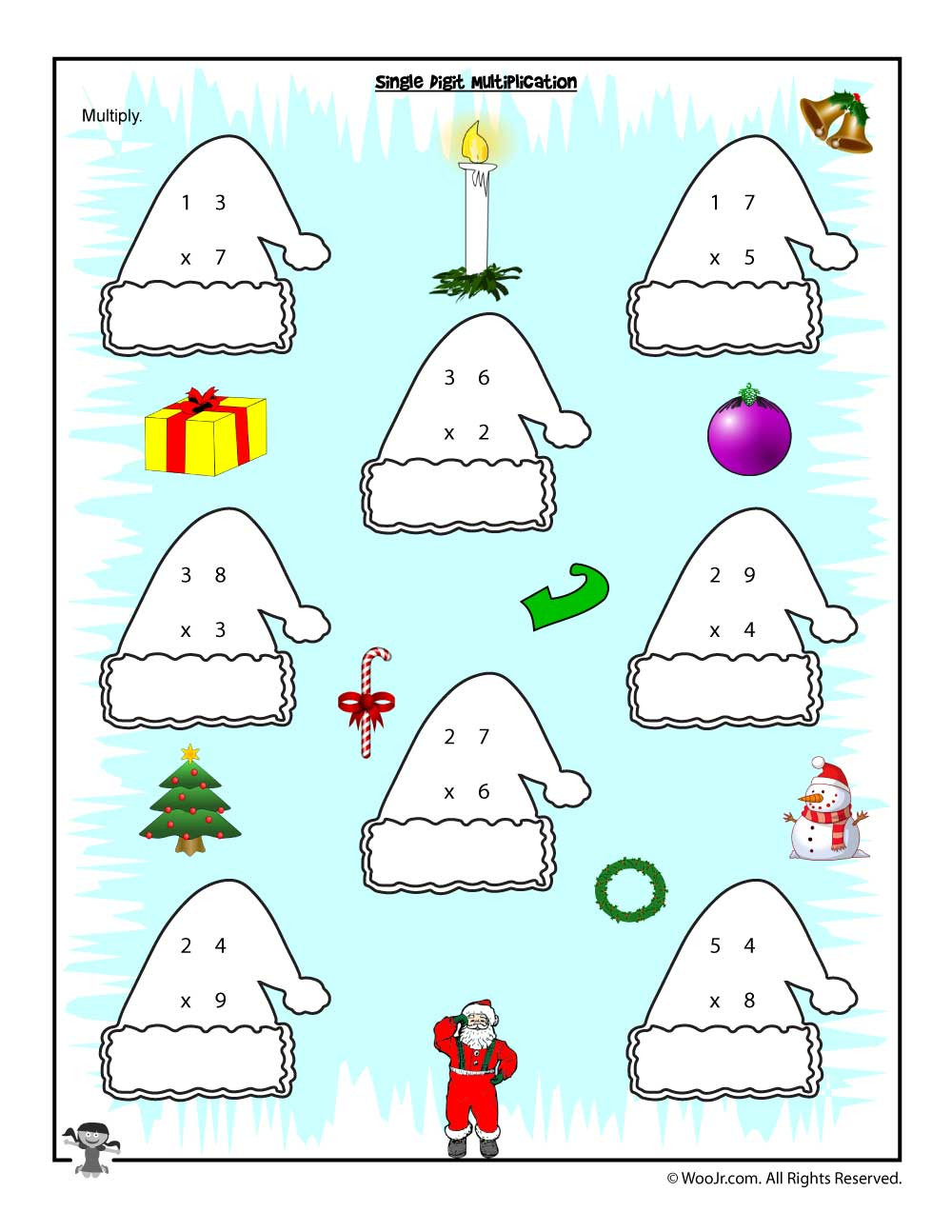 3rd Grade Christmas Worksheets Christmas & Winter Math Worksheets for 2nd 3rd and 4th