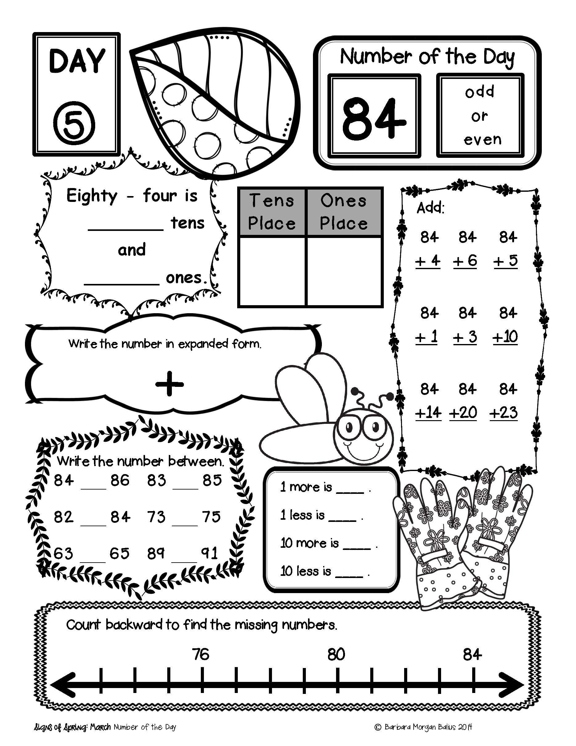 3rd Grade Math Enrichment Worksheets Place Value Number Sense Practice the Morning Work Third