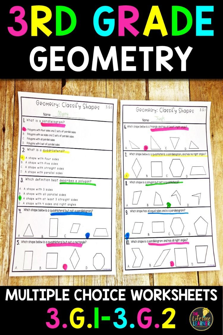 3rd Grade Math Enrichment Worksheets these 16 Geometry Worksheets are Great for 3rd Grade