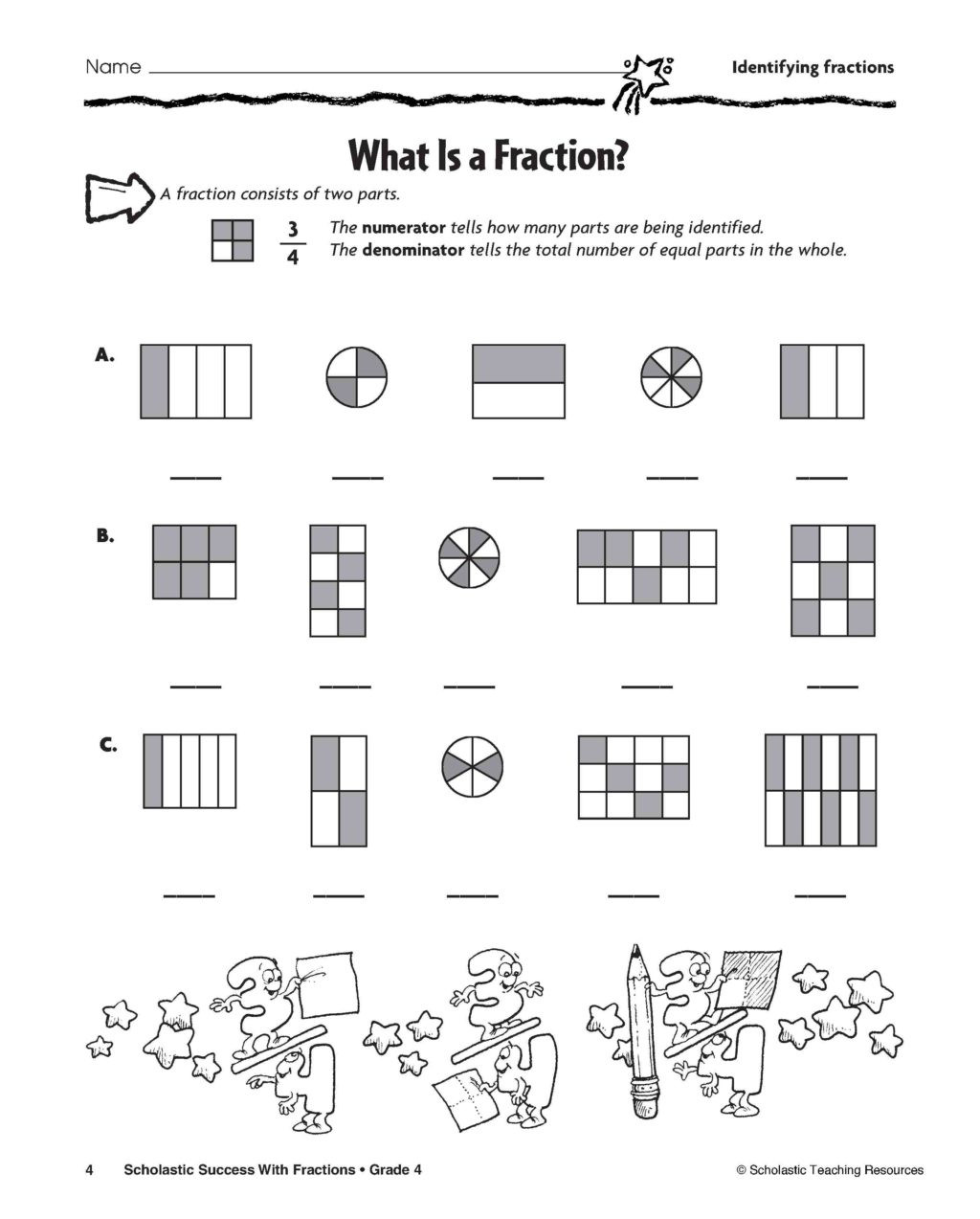 3rd Grade Math Enrichment Worksheets Worksheet Fractions1 3rd Grade Math Enrichment Worksheets