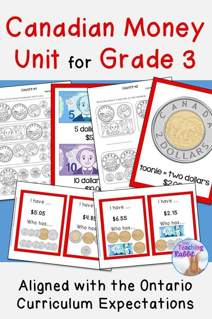 3rd Grade Money Worksheets Canadian Money Unit Grade 3 Distance Learning