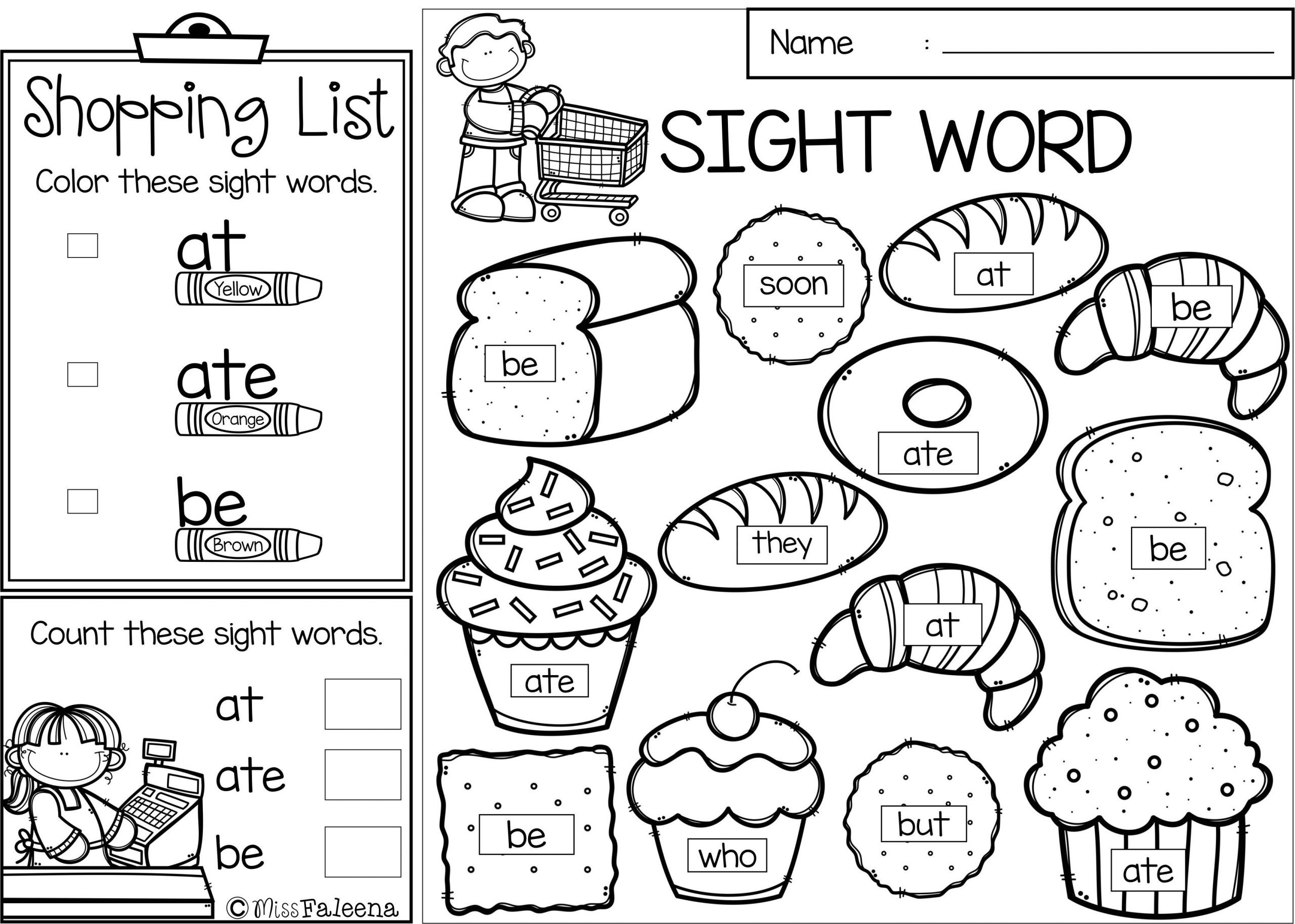 3rd Grade Sight Words Worksheets Coloring Sheet Free Sight Word Pages Picture Ideas Book