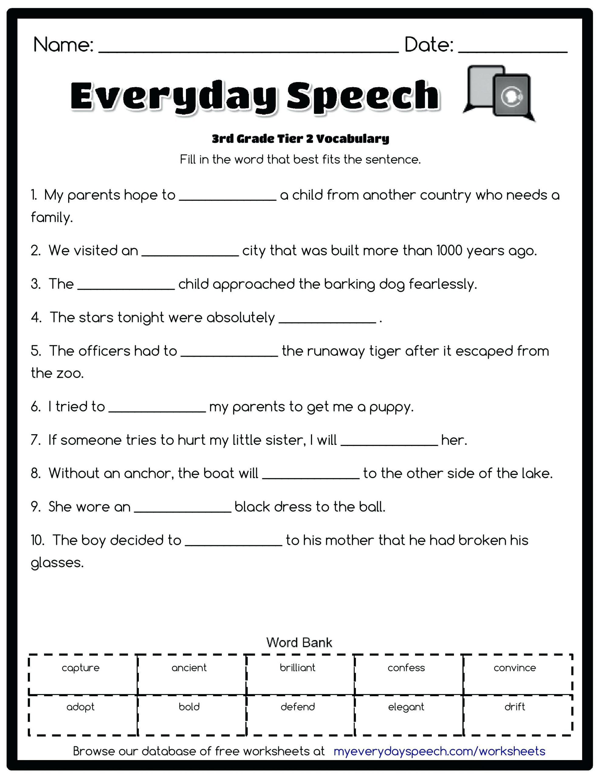 3rd Grade Vocabulary Worksheets Pdf Vocab for 3rd Grade Best Grade Spelling Words Ideas Grade