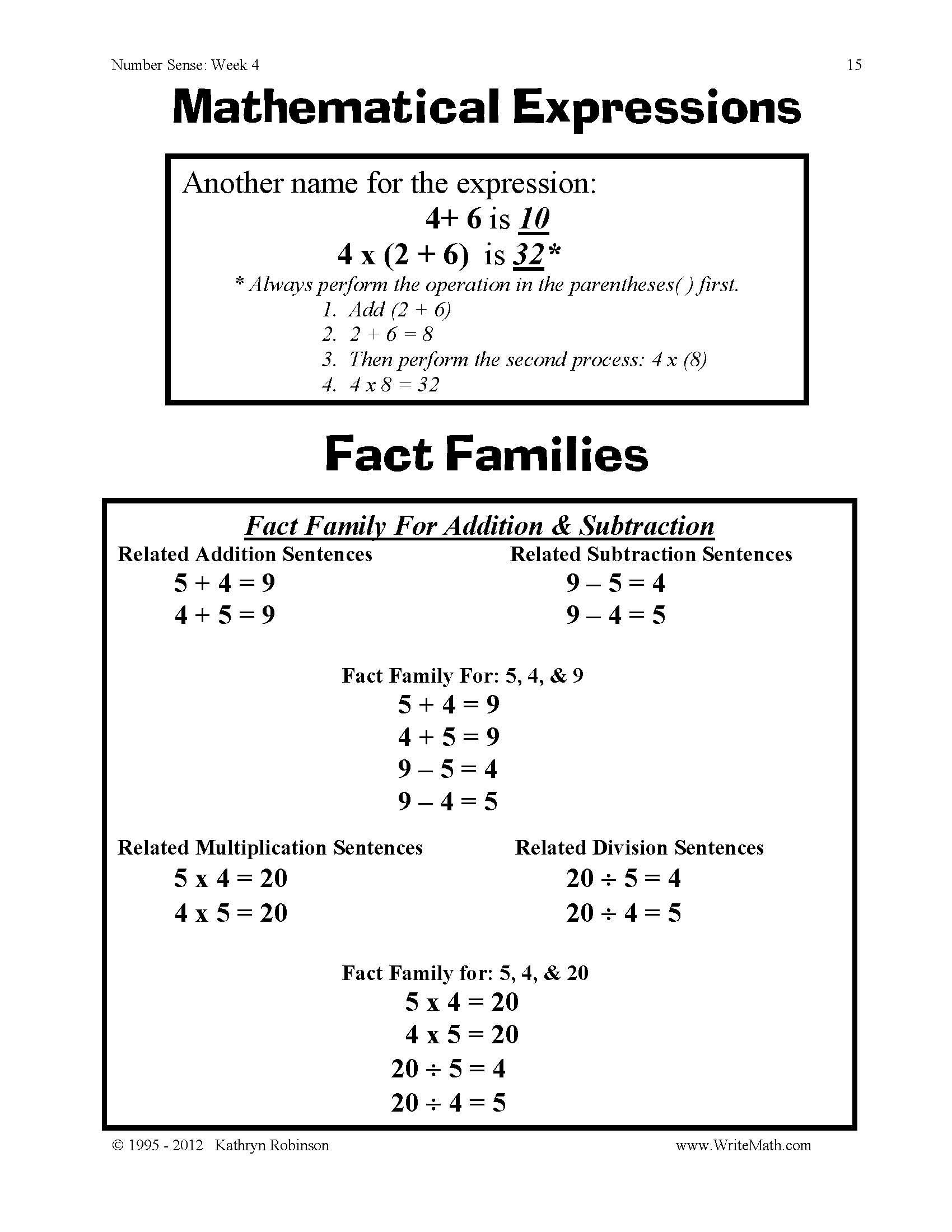 3rd Grade Volume Worksheets Number Sense Worksheets