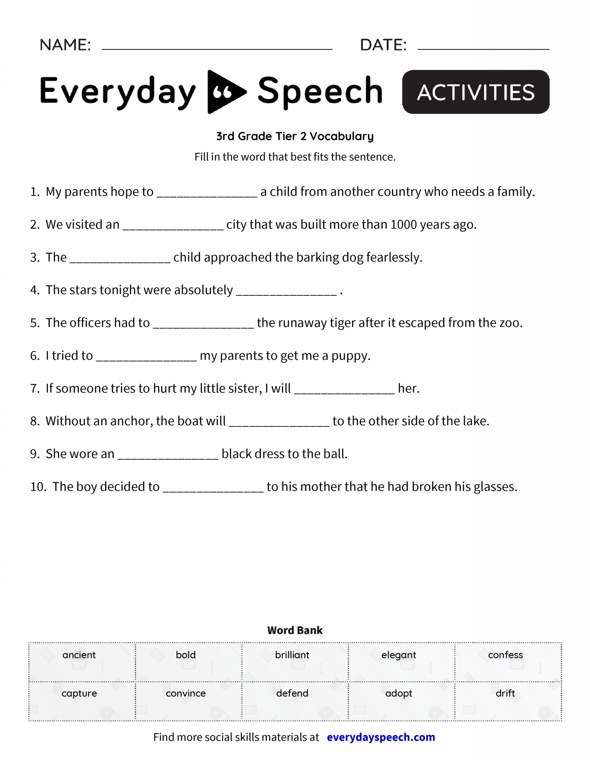4th Grade Vocabulary Worksheets Grade 5 Vocabulary