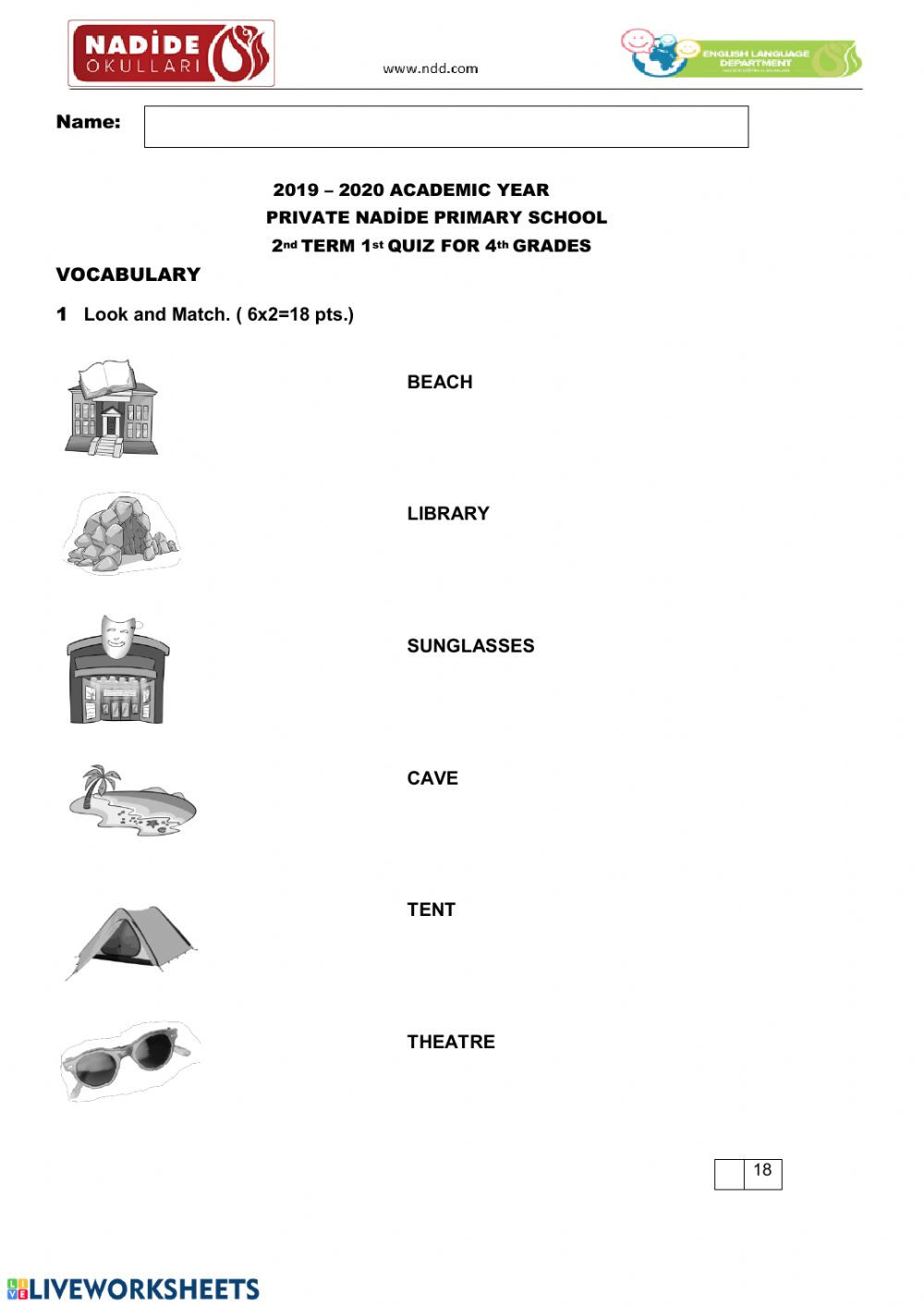 4th Grade Vocabulary Worksheets Pdf 4th Grade Quiz Interactive Worksheet