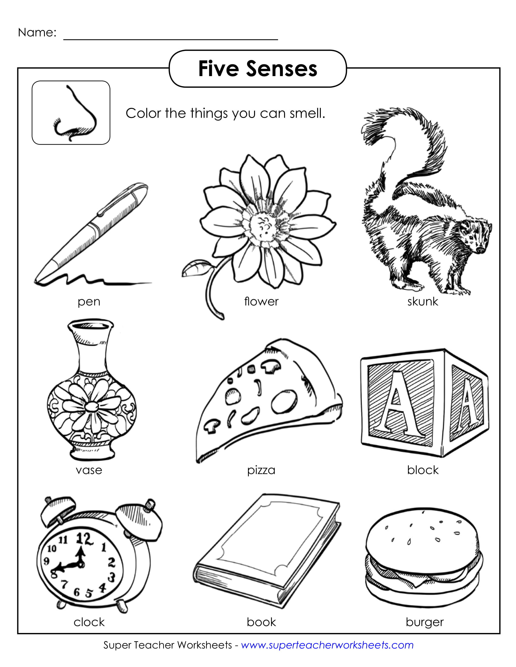 5 Senses Worksheet Preschool Hiddenfashionhistory Free and Roll Worksheets Senses for