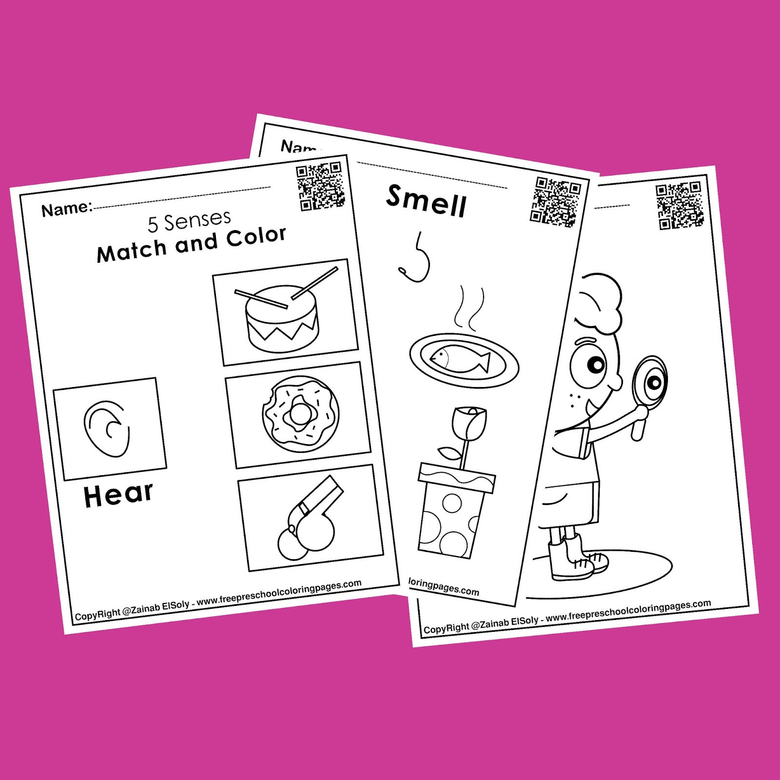 5 Senses Worksheets Preschool 5 Senses Free Worksheets Activities for Kids
