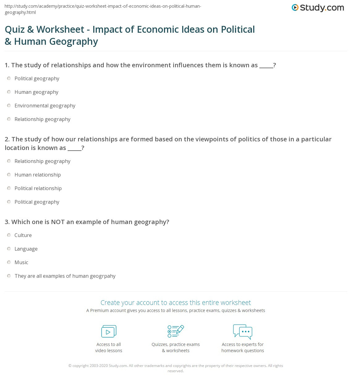 5th Grade Economics Worksheet Economic Geography Worksheets